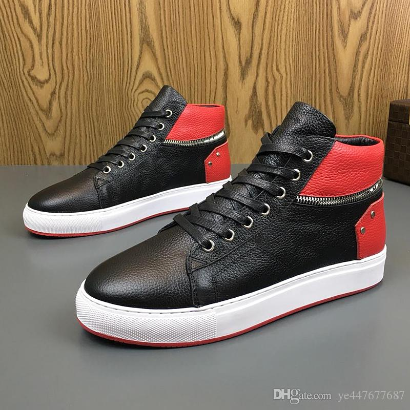 b983af38ef7b 2019 2019 Men S High Shoes Sneakers Boots German Luxury Fashion Designer  Outdoor Sports Shoes Casual Leather Sneakers From Ye447677687