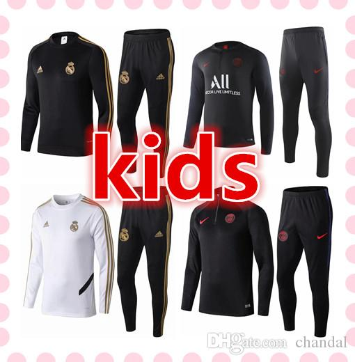 acheter populaire cb2aa fe276 barcelone real madrid Paris psg jordan juventus Tottenham Atletico Madrid  Manchester City france survetement foot kids soccer tracksuit 2019 2020 ...