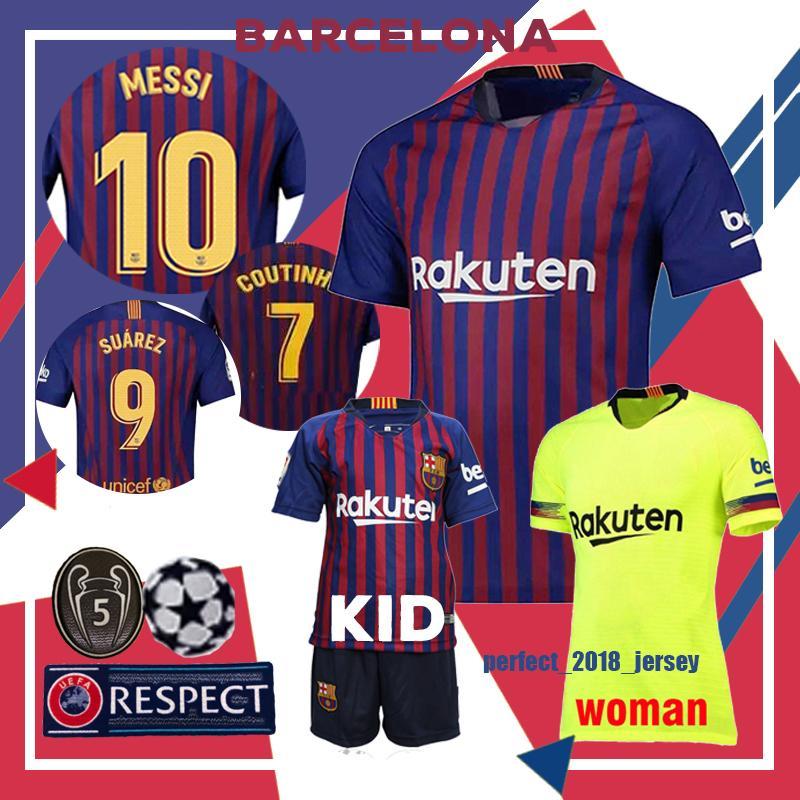 new arrival 64702 87410 barcelona jersey messi 10 football soccer Jersey player version 9 Suárez 11  DEMBELE 14 COUTINHO barcelone shirt 2018 2019 Jerseys top