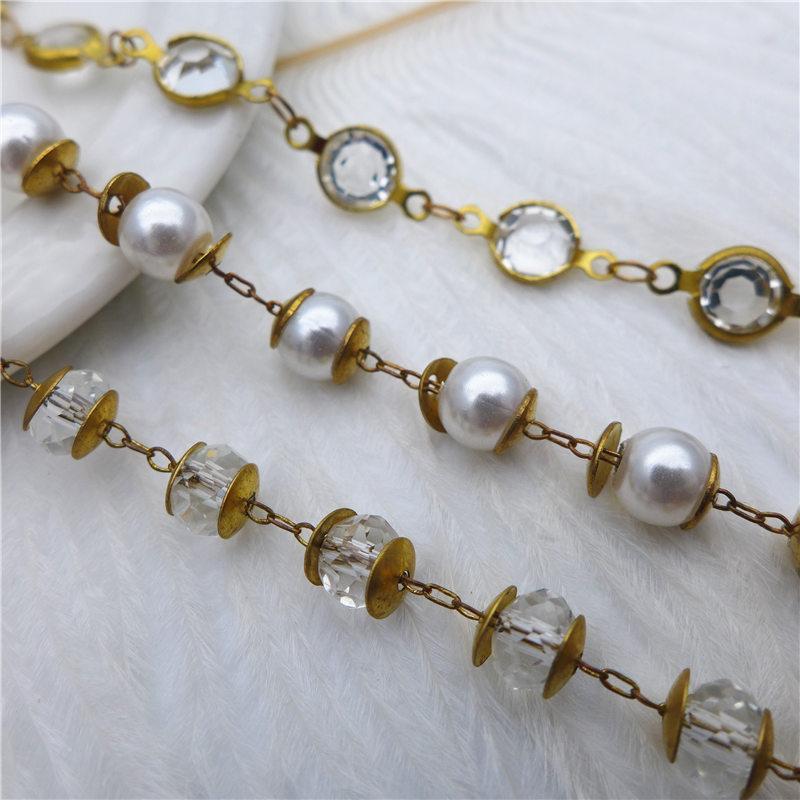 36b650829e331 Acheter Perles De Verre Fait Main Perles De Cristal Chaînes De Cuivre  Boucles D'oreilles Gouttes Collier Bracelet Bricolage Fabrication De Bijoux  ...