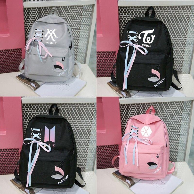 New Bts Exo Got7 Canvas Backpack Women Harajuku Kpop Monsta X Twice Bangtan  Boy K Pop Bag Rucksacks Backpacks Sac A Dos Femme Camo Backpack Batman  Backpack ... e507e12c2