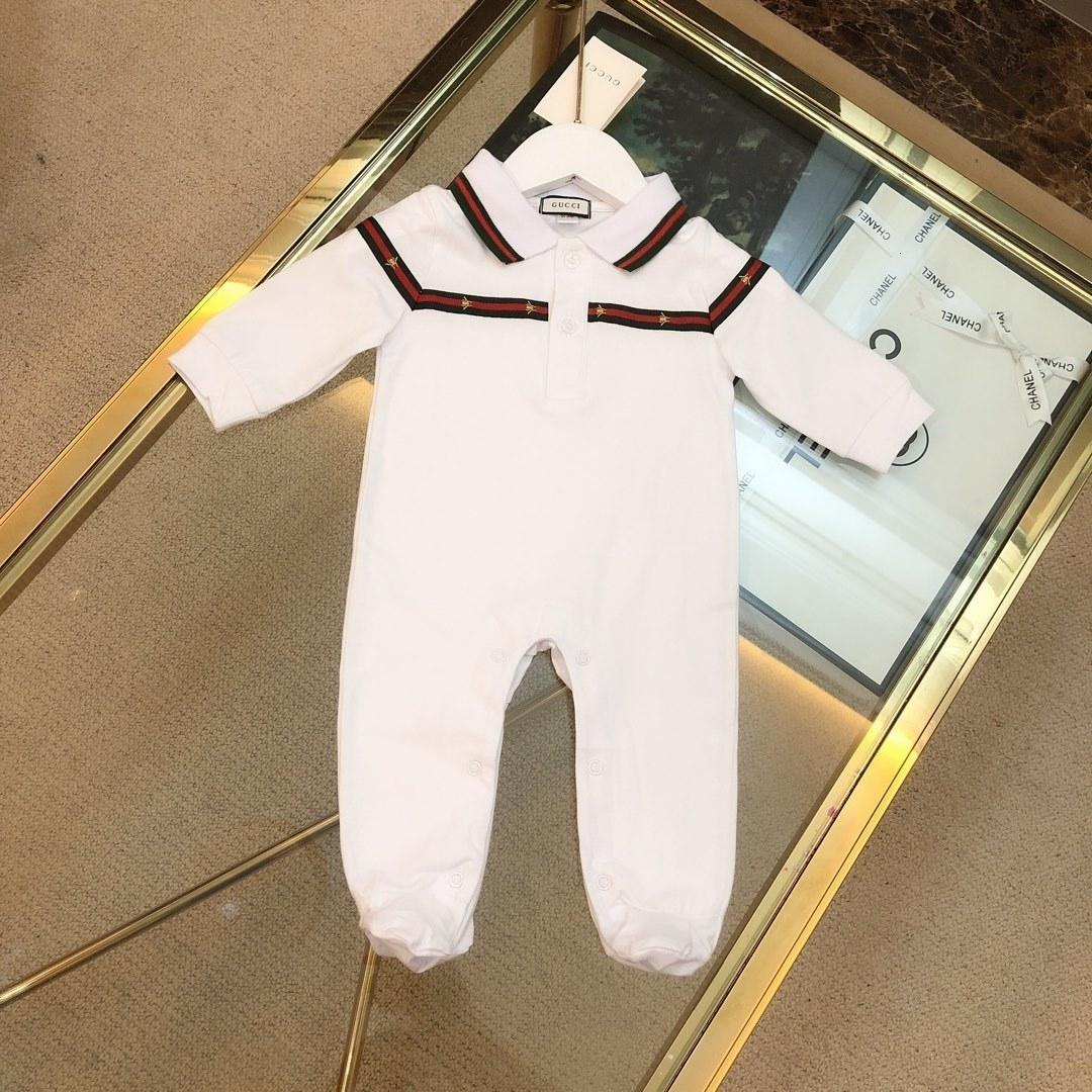 Luxury Designer Autumn Style Baby Boy Girl Rompers Long Sleeve Infant Jumpsuit Casual Outfit Newborn Baby Clothes For 0818