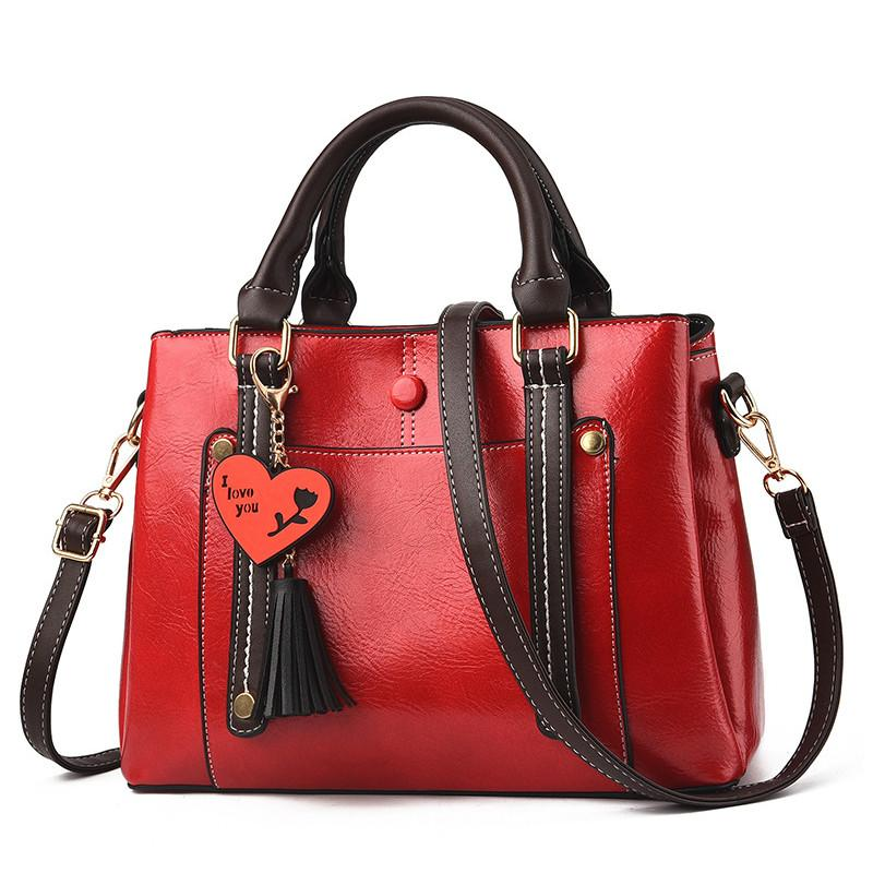 Luxury Handbags Women Bags Designer Red Shoulder Bags For Women 3 Space PU Leather  Handbags Lady Small Tote Bag 2019 Spring Bolsa Feminina Red Handbags Pink  ...
