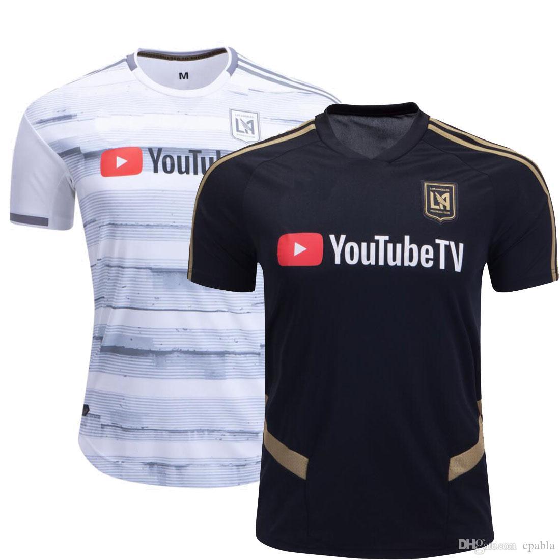 online store 86ced a815b MLS 2019 Lafc Soccer Jersey Home Away Los Angeles FC Rossi Vela Dio  Zimmerman Zelaya Football Shirt