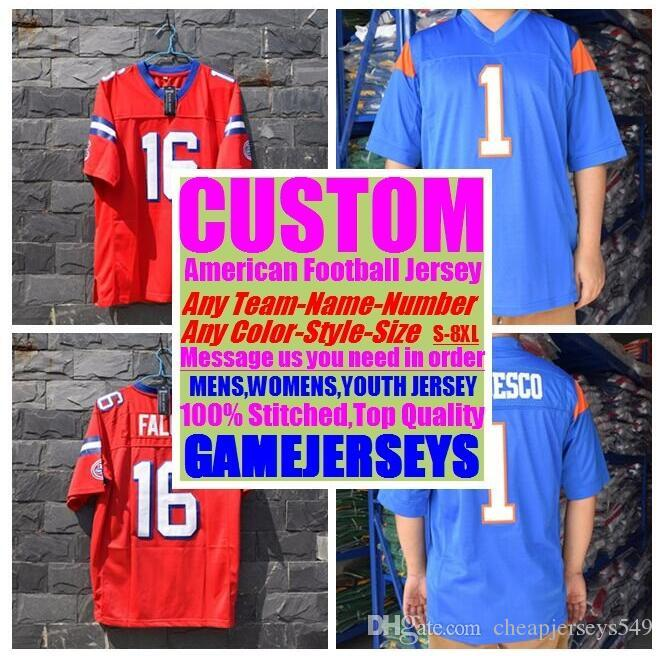 54e93a7b3b8 2019 Personalized American Football Jerseys College Cheap Authentic ...