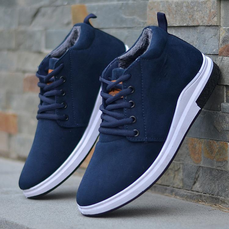 a3b7d372a53 Mens Boots Winter Shoes Man Snow Boots Ankle Plush Casual Shoes Lace-up  Plus Velvet To Keep Warm Out-door Men Boots Slip-on785