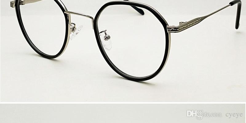 Retro Metal Glasses Border Glasses Unisex Fashion Round Frame Mirror
