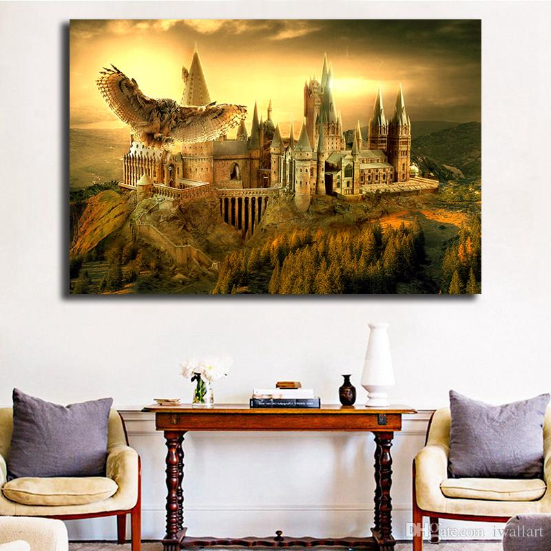 Harry Potter Hogwarts HD Wall Art Canvas Poster And Print Canvas Painting Decorative Picture For Office Living Room Home Decor