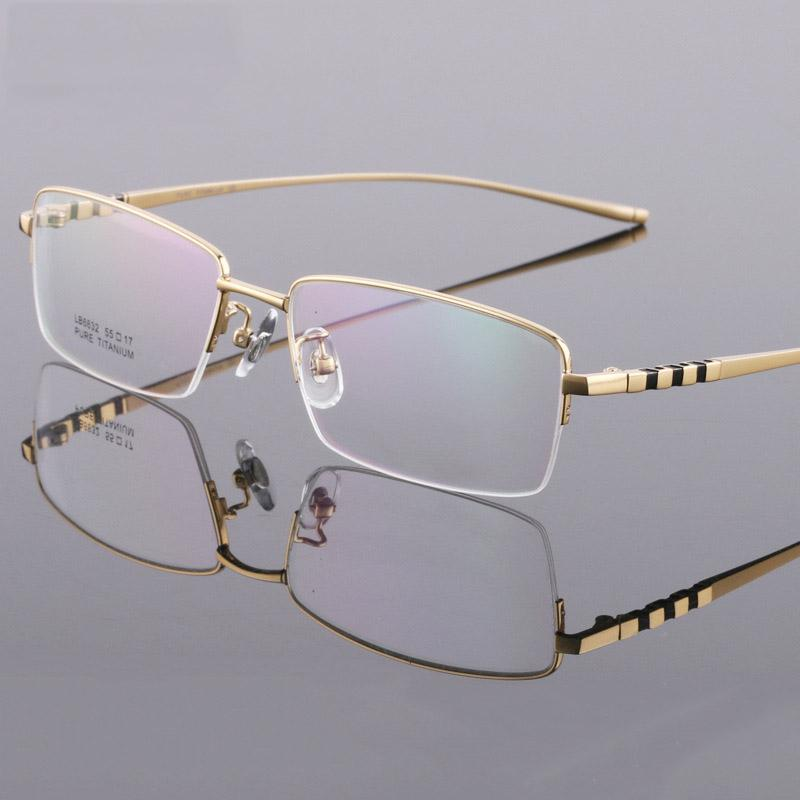 582cc4f3337 Coyee 2019 New Men Business Style Eye Glass Pure Titanium Ultralight ...