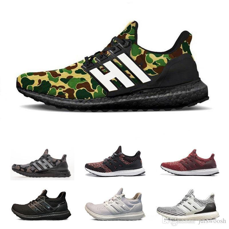 the best attitude fd9d8 5abd9 New Ape Ultra Boost 4.0 Camo Black White Grey Ultraboost 4.0 Running Shoes  men women UB Trainers Sports Athletic Sneakers Size5-11