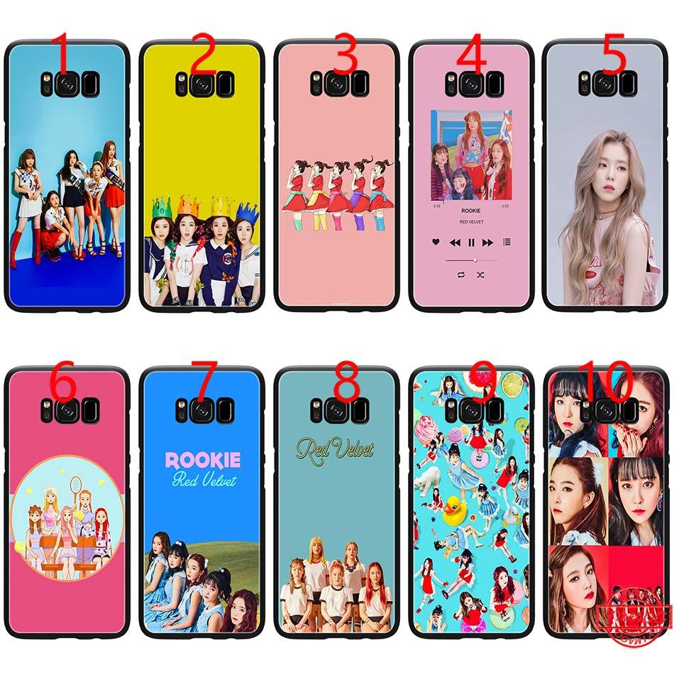 Kpop Red Velvet Music Soft Black Tpu Phone Case For Samsung Note 9 8