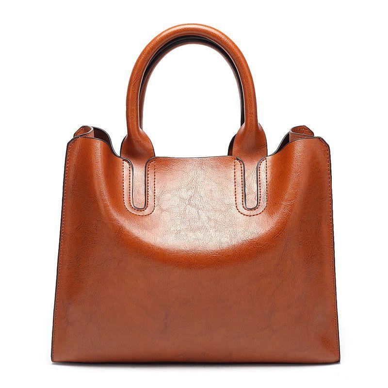 47a756bac7c1 Good Quality Leather Handbags Women Casual Bag Pure Color High Quality  Luxury Handbag Brand Shoulder Bag Ladies Large Handbags Black Handbag Purses  ...