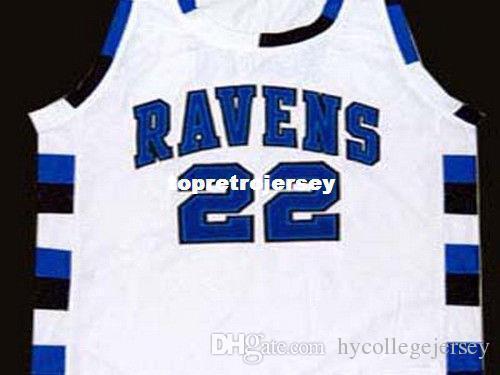 promo code 1434f d8be2 Cheap Mens WHITE LUCAS SCOTT #22 ONE TREE HILL RAVENS JERSEY WHITE NEW ANY  SIZE XS - 5XL Retro Basketball Jerseys