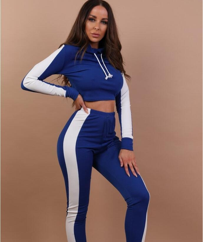 18f24d05befb7 2019 Women Sport Tracksuit Hoodies + Pants Woman Set Outfit Hollow Out  Solid Color Womens Sweat Suits Sweatsuits Clothes Clothing From  Q1667156513