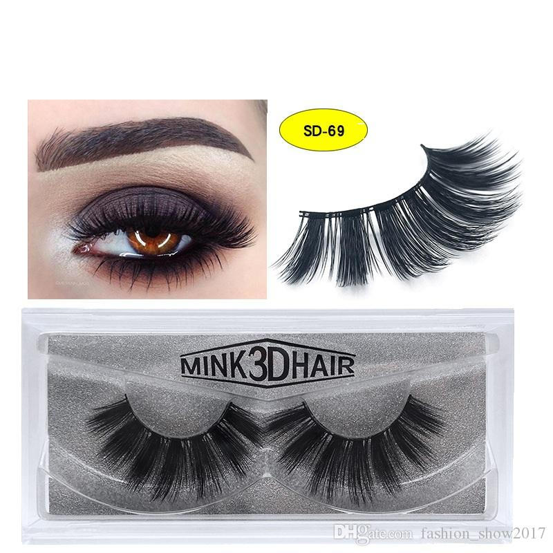 62b3f9847a3 17 Styles 3D Mink Hair False Eyelashes Thick Cross Long Lashes Soft  Multilayer Wispy Fake Mink Eyelashes Extension Makeup Tools Eyelash  Extensions Makeup ...