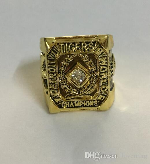 Detroit 1945 Tigers World Baseball championship ring Fan Men Promotion Gift wholesale 2019 Drop Shipping