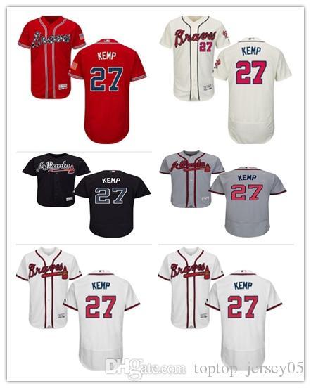 super cute 25496 52c71 2018 can Atlanta Braves Jerseys #27 Matt Kemp Jerseys men#WOMEN#YOUTH#Men s  Baseball Jersey Majestic Stitched Professional sportswear
