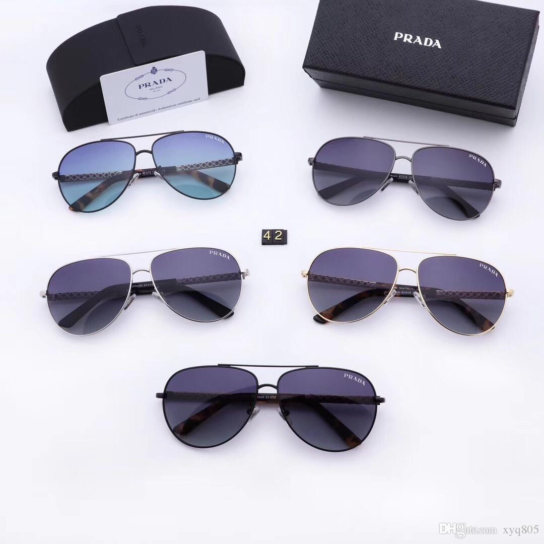 cd864d2a3 Compre Luxo 2252 Óculos De Sol Para Os Homens Da Marca De Design De Moda  Óculos De Sol Envoltório Sunglass Piloto Quadro Lente Espelho De  Revestimento De ...