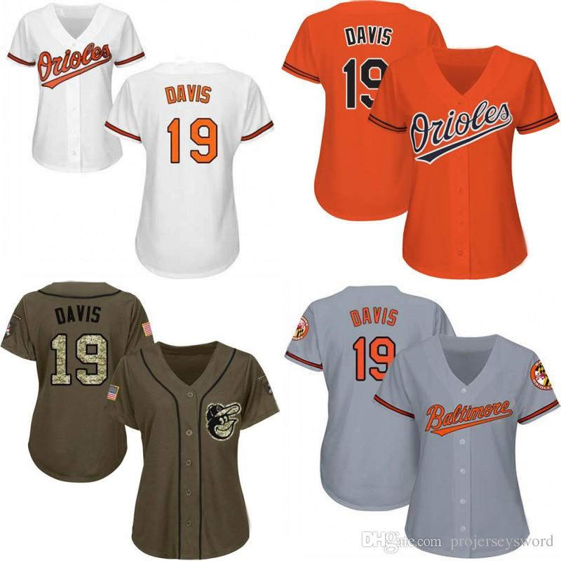 afbe02c5f 2019 Womens 19 Chris Davis Baltimore Jersey 100% Stitched Chris Davis Cool  Base Orioles Baseball Jerseys From Projerseysword