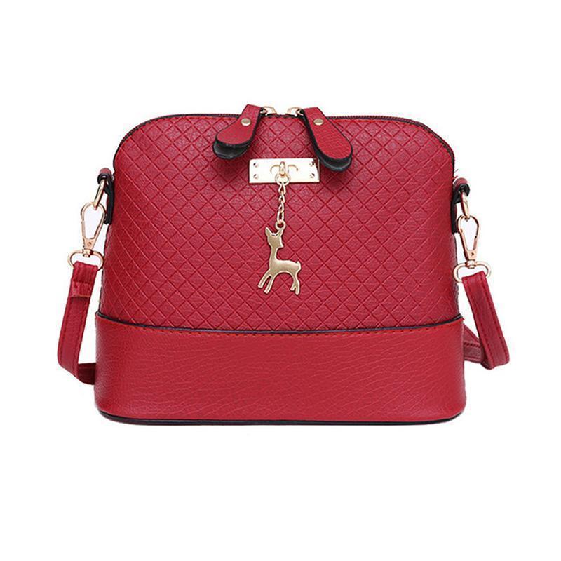 5a201eb672d6 Pop Fashion Women Messenger Bags Fashion Mini Bag With Deer Toy Shell Shape  Bag Women Shoulder Bags Handbag Red Handbags Italian Leather Handbags From  ...