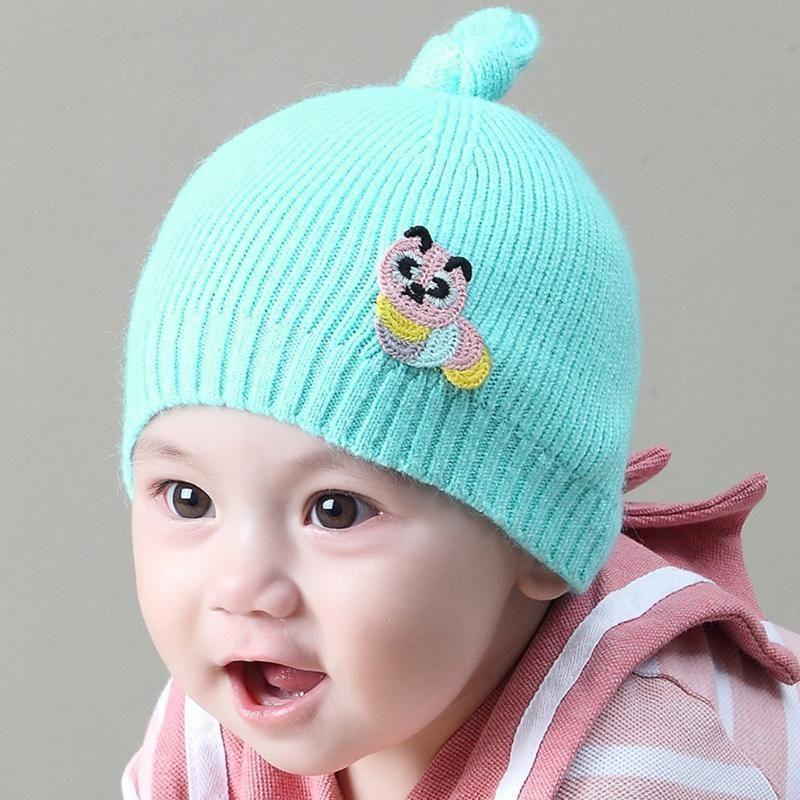 c156544f4e8 2019 Winter Baby Warm Knitted Hats Cap Cute Animal Knot Kids Knitting  Woolen Hat Beanies Caps Newborn Infant Skullies For Girls Boys From  Kareem11
