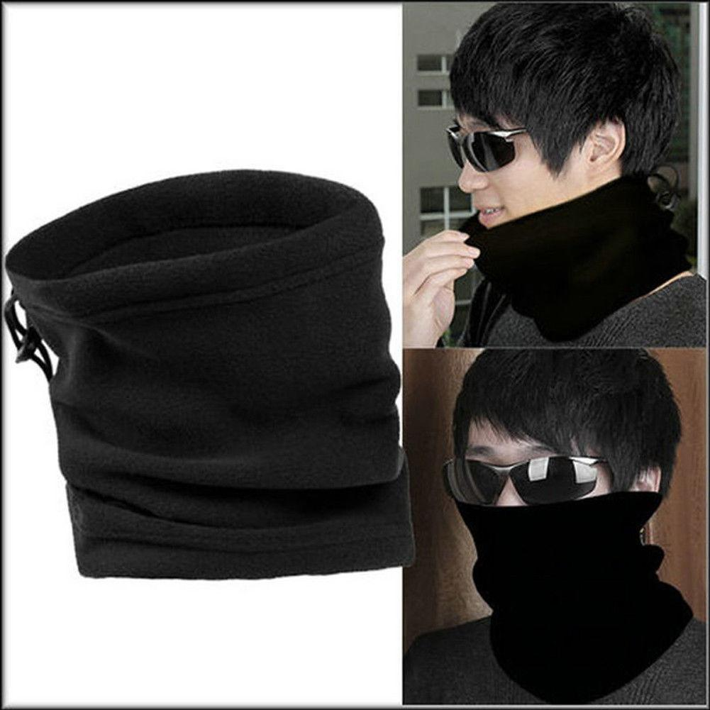 Men's Bandana Face Shield Mask Fishing Headwear Biker Neck Tube Scarf Black Hat Motorcycle Kerchief