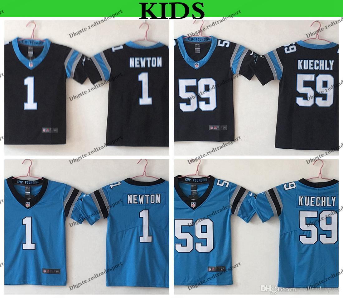 brand new fbca3 f1d67 Youth Carolina Kids Panthers Luke Kuechly Football Jerseys Cheap 1 Cam  Newton 59 Luke Kuechly Stitched Shirts