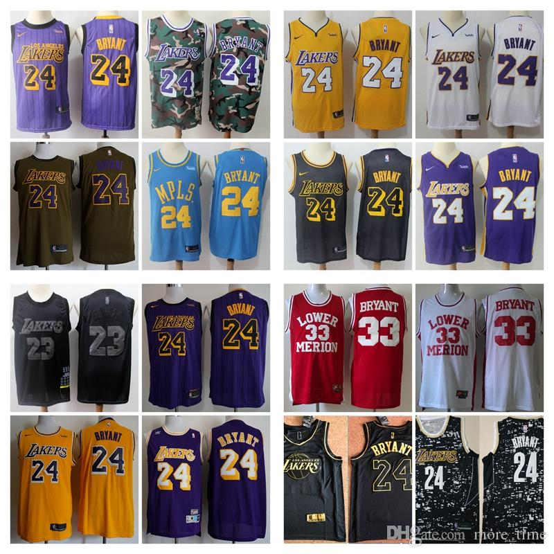 pretty nice c9f91 75ac9 2019 Mens MVP Edition Kobe #24 Bryant Jerseys New All 2019 Star Los Angeles  Laker Basketball Jersey Stitched The City New Edition Shirts