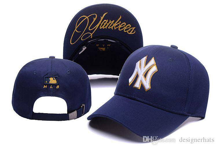 2019 New Cap Hot Sale Designer Hats Arrivals Best Quality Gold Line N Y  Baseball Cap HATS N01Y Fashion Baseball Cap Wholesale Superman Cap Hat  Embroidery ... bcf520073bf