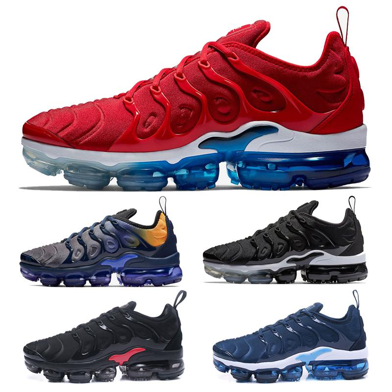 bd093053ba 2019 2018 2019 New Mens Fashion Outdoor Shoes Sneakers Tns Plus Chaussures Tn  Ultra Airlis White Black Red Blue Cheap Sale From Irvingjersey, ...