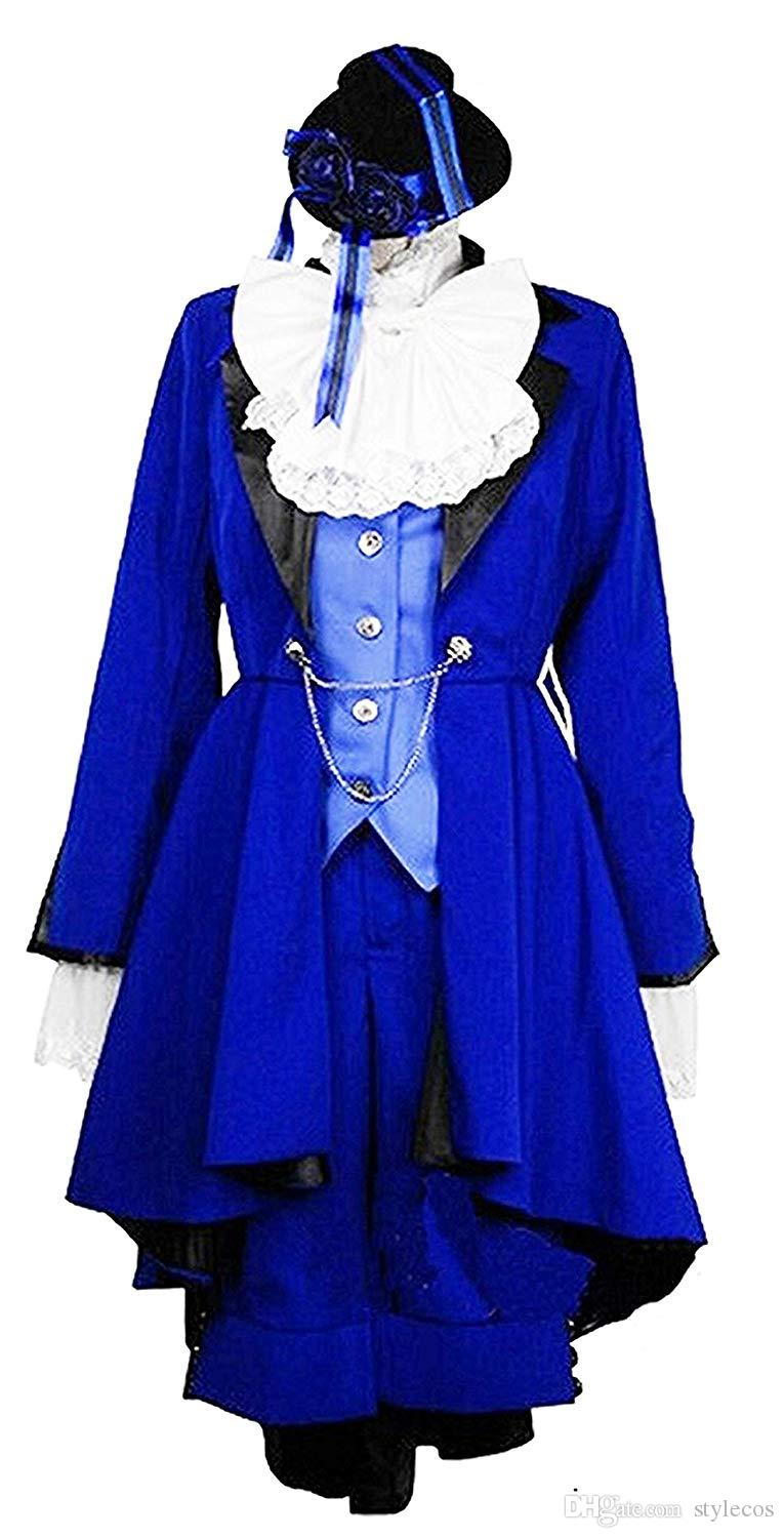 Black Butler Ciel Phantomhive Blue Version Cosplay Costume
