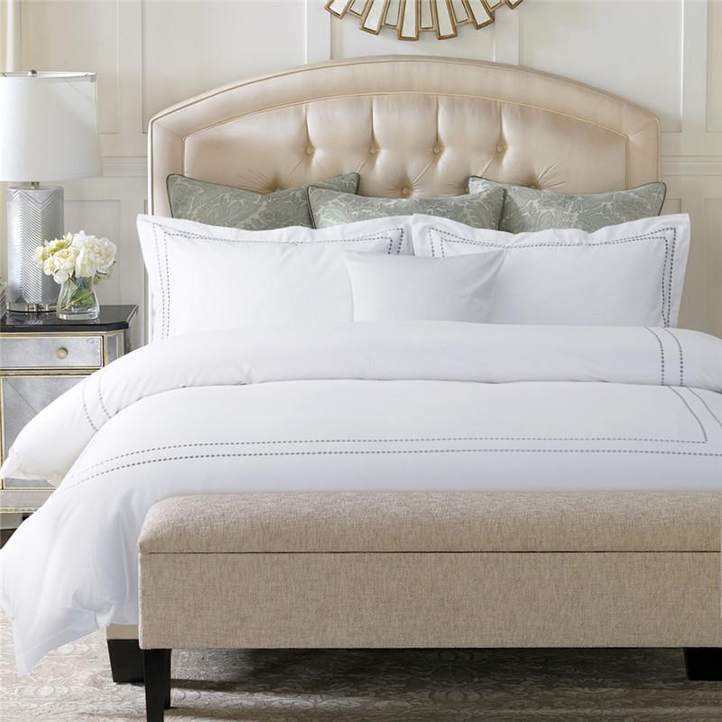 Großhandel 4 Stücke 100 Baumwolle Reinweiß Luxus Hotel Bettwäsche