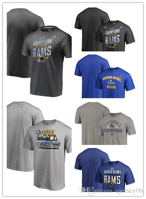 60481279c Rams Super Bowl LIII Bound Heart Soul Ball Control ATL Or Bust 2018 NFC  Champions Trophy Collection Locker Room Scrimmage Tri Blend T Shirt UK 2019  From ...