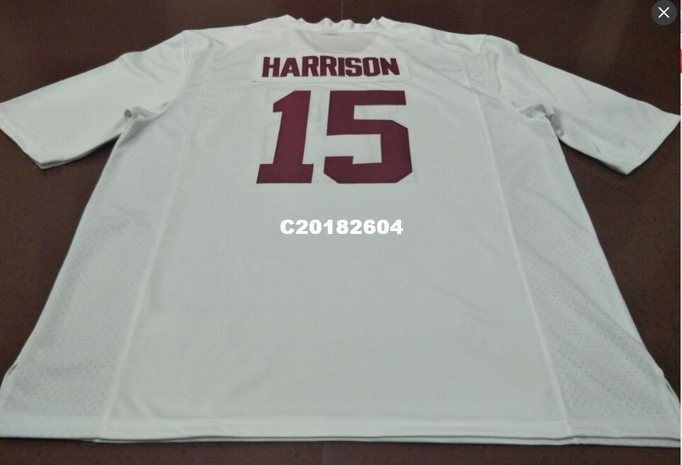 Men #15 Ronnie Harrison Alabama Crimson Tide red black white College Jersey or custom any name or number jersey