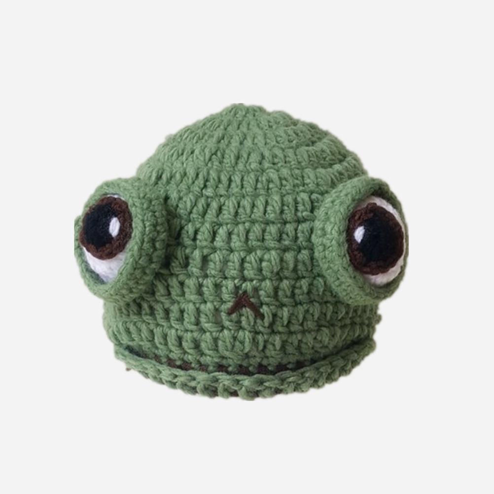 Baby Autumn Winter Wool Hats Cute Frog Animal Cap Warm Knitted Hat Children Crochet Beanie