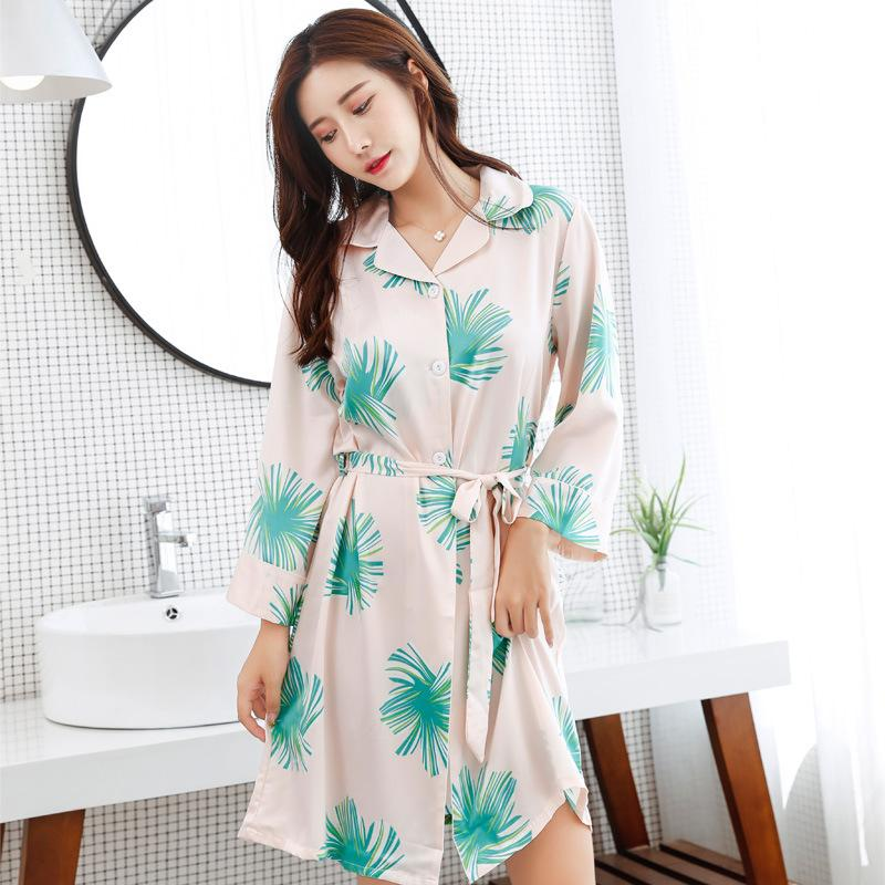 dcd2aef7fa Tinyear Hot Spring Women Robe Silk Satin Robes Wedding Bridesmaid Bride  Gown Kimono Sexy Charming Robe One Size UK 2019 From Charle