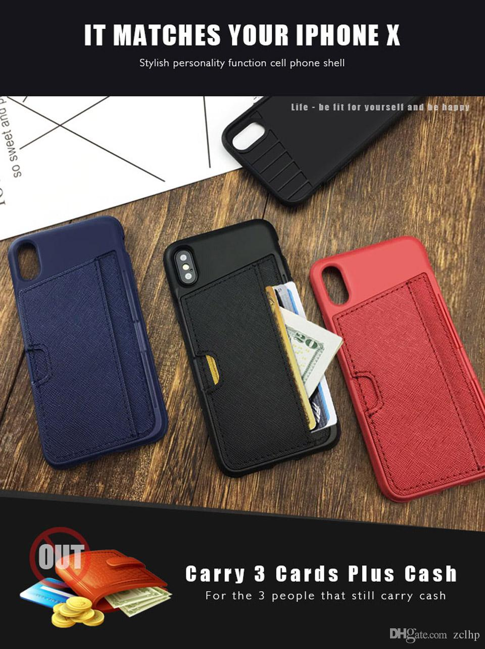 for iphone x xs 8 7 6 plus wallet leather case cover fashion fullfor iphone x xs 8 7 6 plus wallet leather case cover fashion full protection tpu and leather case apple case dhl top rated cell phones leather phone cases