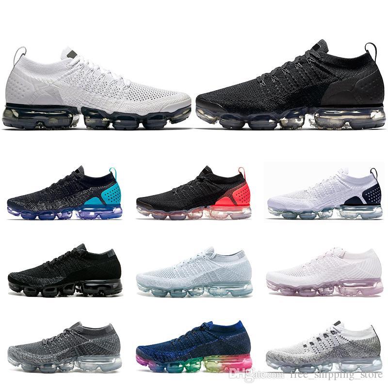 17c8cc19b Compre Nike Air Vapormax Zapatillas Baratas Para Correr Para Hombre Mujer  Zapatillas De Deporte Para Hombre Entrenadores Triple Negro Blanco Hot  Punch SEA ...