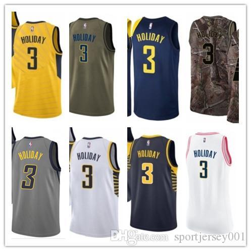 the latest ac5ee 24475 custom 2019 Indiana Pacer Jerseys #3 Aaron Holiday Jerseys  men#WOMEN#YOUTH#Men's Baseball Jersey Majestic basketball jersey