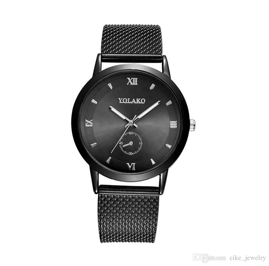 Fashion men women wristwatch plated plastic watch strap Roma digital dial plate glass face quartz watch