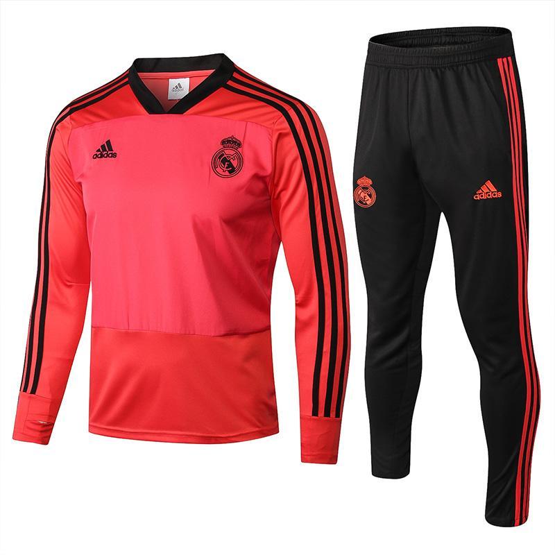 dd5fa77d31fdf Real Madrid Tracksuit Jacket Set Soccer Veste 18 19 Maillot De Foot ...