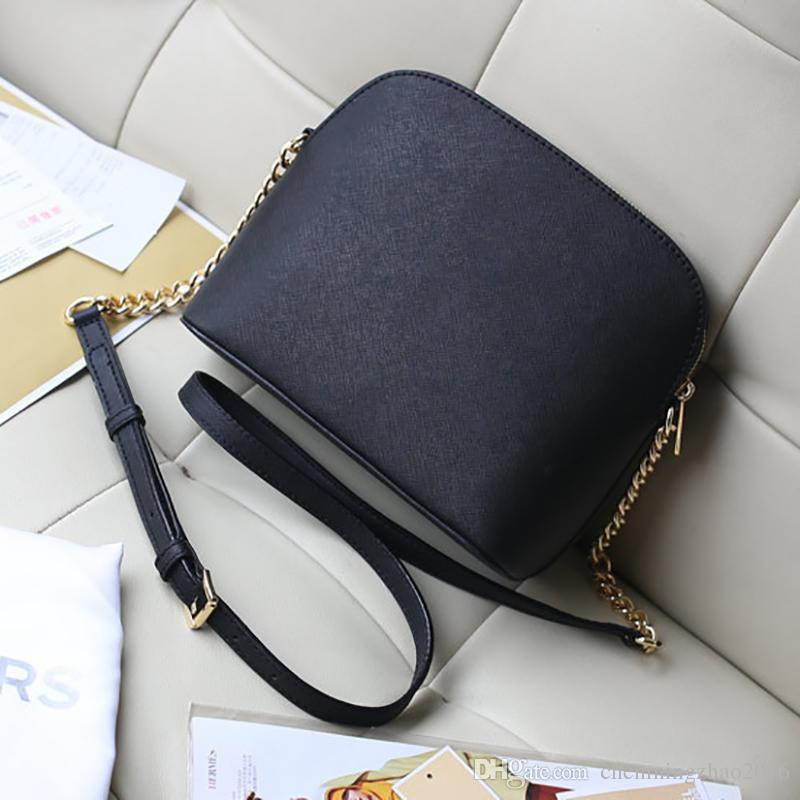 Free shipping 2019 new handbag cross pattern synthetic leather shell bag chain Bag Shoulder Messenger Bag Small fashionista