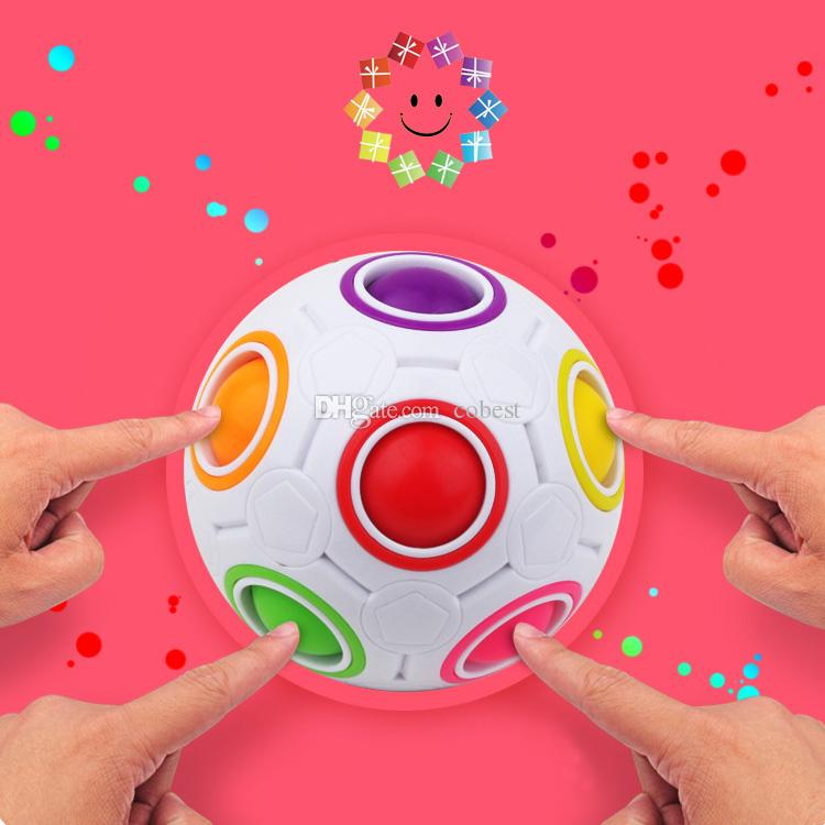 Magic Rainbow Ball Magic Cube Speed Football Fun Creative Spherical Puzzles Kids Educational Learning Toy game for Children Adult Gifts