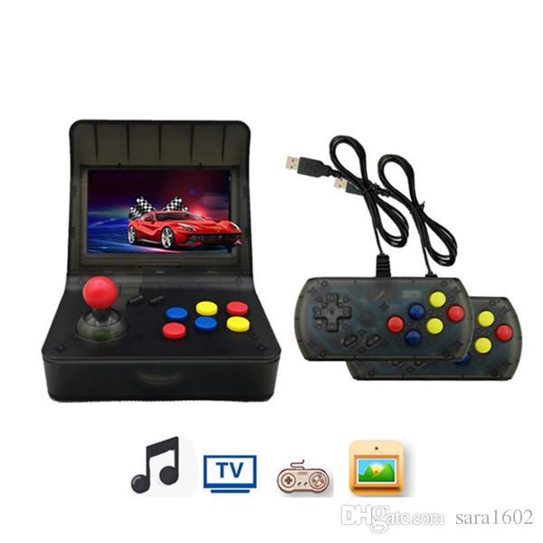 f72de712af16 Portable Retro Arcade Mini Handheld Game Console 4.3 Inch 64bit 16GB ...