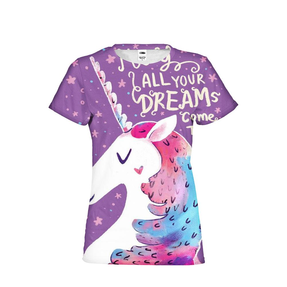 7f62ddd04 Unicorn T Shirt Women Brand Clothing Flowers Print Short Sleeved T Shirts  Femme Sexy Bodybuilding Elastic Top Tees Girls 1 T Shirt T Shirt And Shirt  From ...