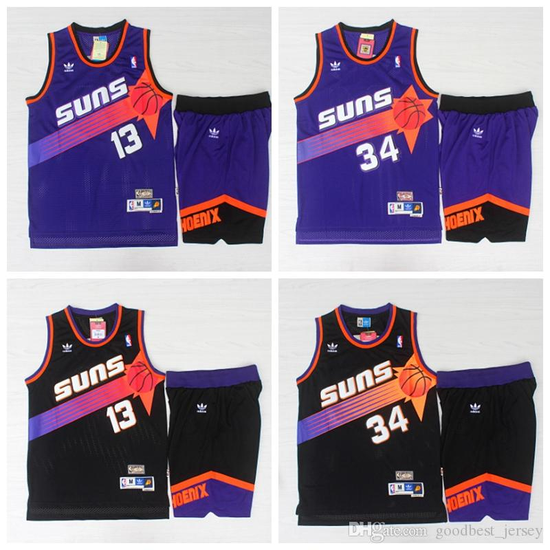 low cost 54ab1 7c0a6 2019 Mitchell & Ness 13 Steve Nash 34 Charles Barkley Phoenix mens Suns  1996-97 Throwback Authentic Home basketball Jerseys