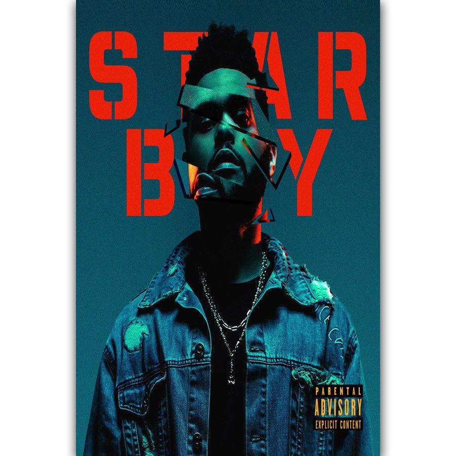 Hot New The Weeknd Starboy Rapper Hip Hop Music Art Silk Print Poster  24x36inch(60x90cm) 015