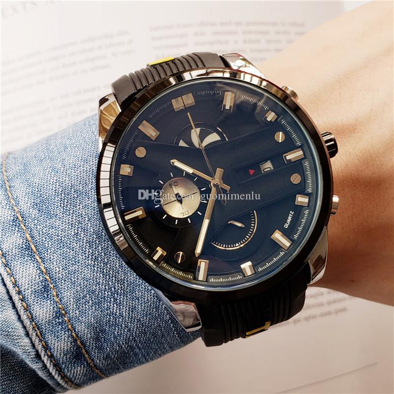 2019 new High Quality Luxury men Watches Silicone strap Date day Promotion Cheap Selling Man Designer watches quartz Wristwatch Wholesale