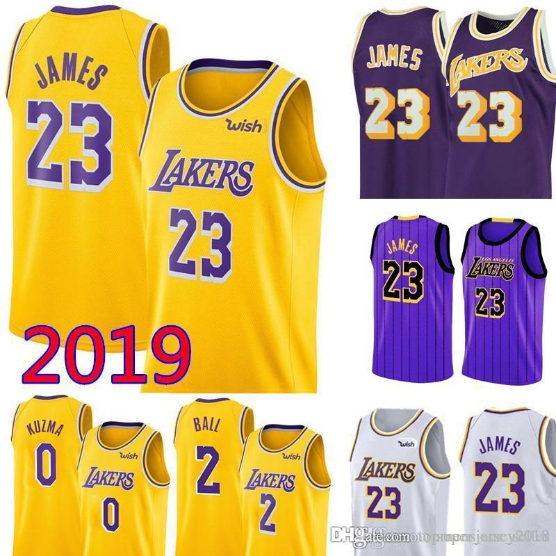 super popular b9ef1 716db 23 LeBron James Los Angeles James Laker Jersey Mens Swingman Jersey - Icon  Edition Embroidery Basketball Jerseys S-XXL