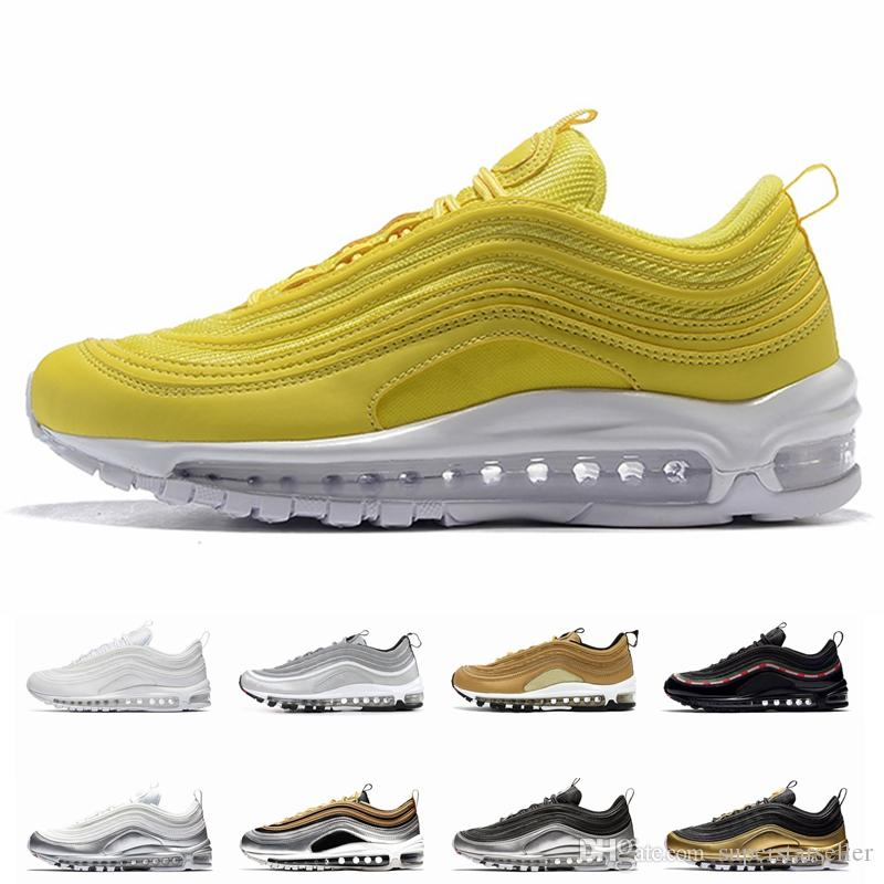 Homme Nike Air Max 97 Hyperfuse Jaune Blanc 115 FR25537256